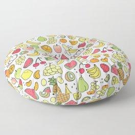 Juicy Fruits Doodle Floor Pillow