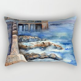 Walking with Steinbeck on Cannery Row Rectangular Pillow