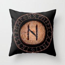 Hagalaz - Elder Futhark rune Throw Pillow