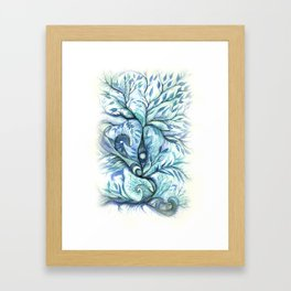 Tree of Life (blues) Framed Art Print