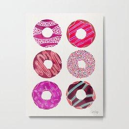 Half Dozen Donuts – Magenta Palette Metal Print