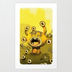 yellow eyes Art Print