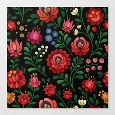 Hungarian flowers Canvas Print