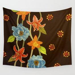 Vintage Flowery Serpentine Wall Tapestry