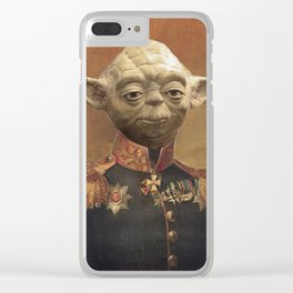 General Yoda Portrait Painting On Canvas | Fan Art Clear iPhone Case