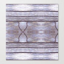 Cracked Wood Photo Canvas Print