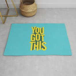 You Got This motivational typography poster inspirational quote bedroom wall home decor Rug