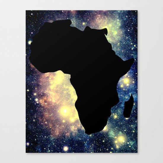 Africa Mauve Teal Galaxy Canvas Print