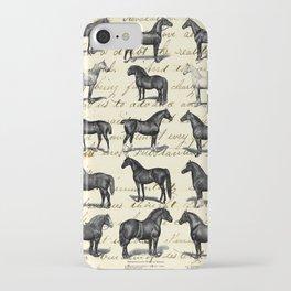 1895 Vintage Horse study iPhone Case