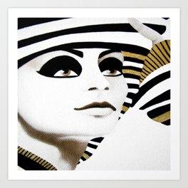 la sfinge cambia look (particolare2) Art Print