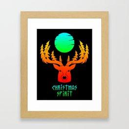 Christmas Spirit BLACK Framed Art Print