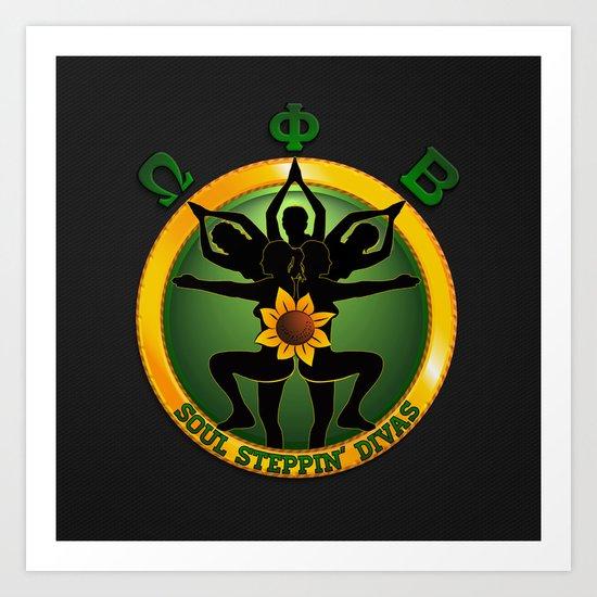 OPB Soul Steppin' Divas Logo Art Print