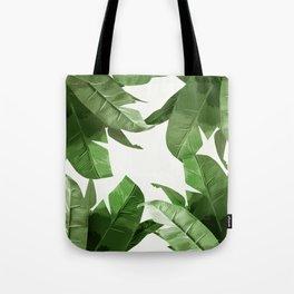 Tropical Palm Print Treetop Greenery Tote Bag