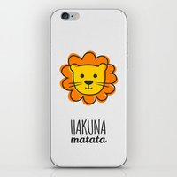the lion king iPhone & iPod Skins featuring Lion & King by Jane Mathieu