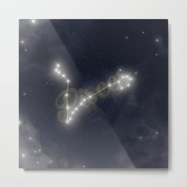 Pisces Constellation - Zodiac Metal Print