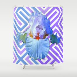 MODERN ART DECO PATTERN IRIS PATTERN ART Shower Curtain
