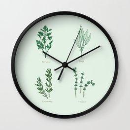 Parsley, Sage, Rosemary & Thyme Wall Clock