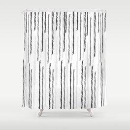 Stripe Interrupted Shower Curtain