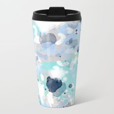 Riley - abstract gender neutral nursery home office dorm decor art abstract painting Metal Travel Mug