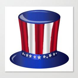 Uncle Sam Flag Hat Canvas Print