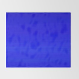 Solid Cobalt Blue - Brush Texture Throw Blanket