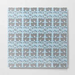 Kitty Pattern Metal Print