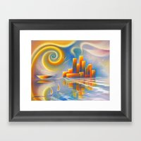 Dream City Framed Art Print
