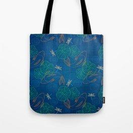 Koi Pond on Washi Silk Tote Bag