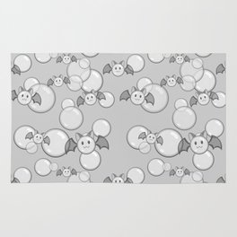Bubbles and Bats Grey Rug
