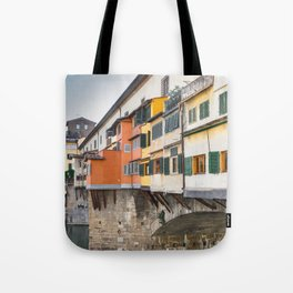 Ponte Vecchio Firenze Florence Tuscany Italy Tote Bag