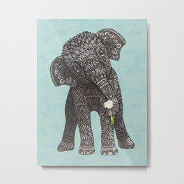 Baby Elephant Metal Print