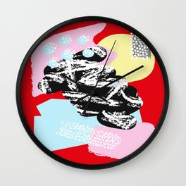 Collage Pattern 01 Wall Clock