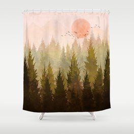 Hill Morning Shower Curtain