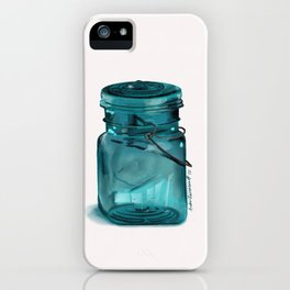 Turquoise Glass Ball Jar iPhone Case