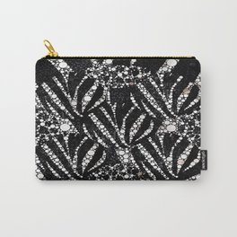 Black&Silver Abstract Bling Pattern  Carry-All Pouch