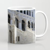 doge Mugs featuring Inverted Doge Palace Venice by czossi