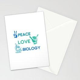 Peace Love Biology Stationery Cards