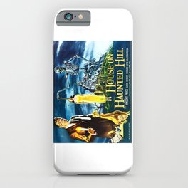 House on Haunted Hill, vintage horror movie poster iPhone Case