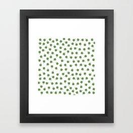 Light Green Clover Framed Art Print