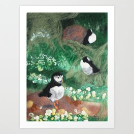 Sea Parrots Art Print