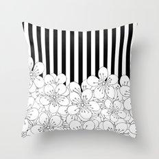 Cherry Blossom Stripes - In Memory of Mackenzie Throw Pillow