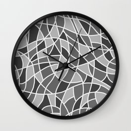 Curved mosaic 06 Wall Clock