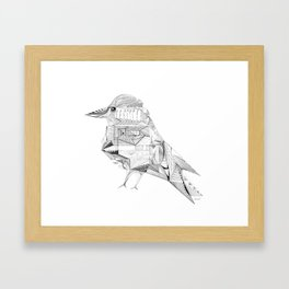 Geometric Architectural Bird-01 Framed Art Print