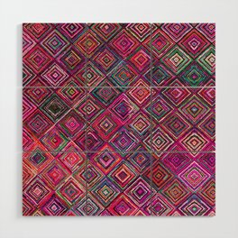 N46 - Arteresting Colored Traditional Boho Moroccan Artwork. Wood Wall Art