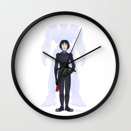 Robot Pilot Wall Clock