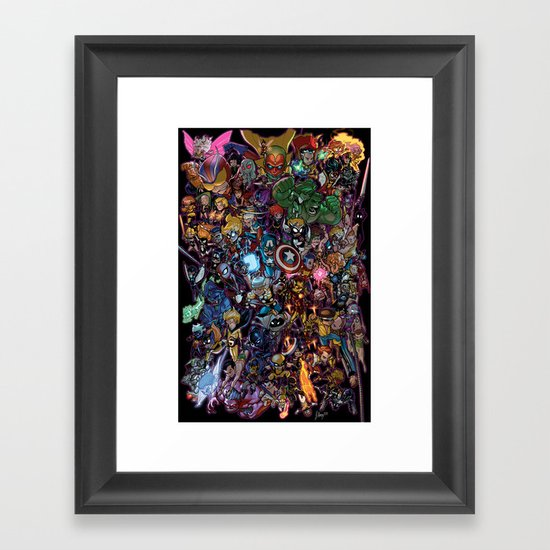 Lil' Marvels Framed Art Print
