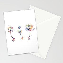 Multipolar Neurons Art Neuroscience Art Brain Cell Anatomy Art Colorful Watercolor Stationery Cards