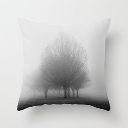 The fog consumed us all Throw Pillow