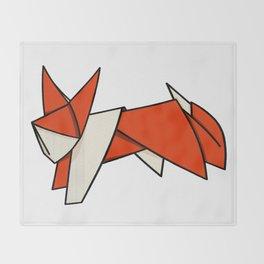 Origami Fox Throw Blanket