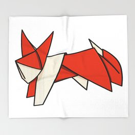 Origami Fox Throw Blanket